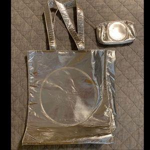 MAC COSMETICS Glitter & Ice Tote and Makeup Bag